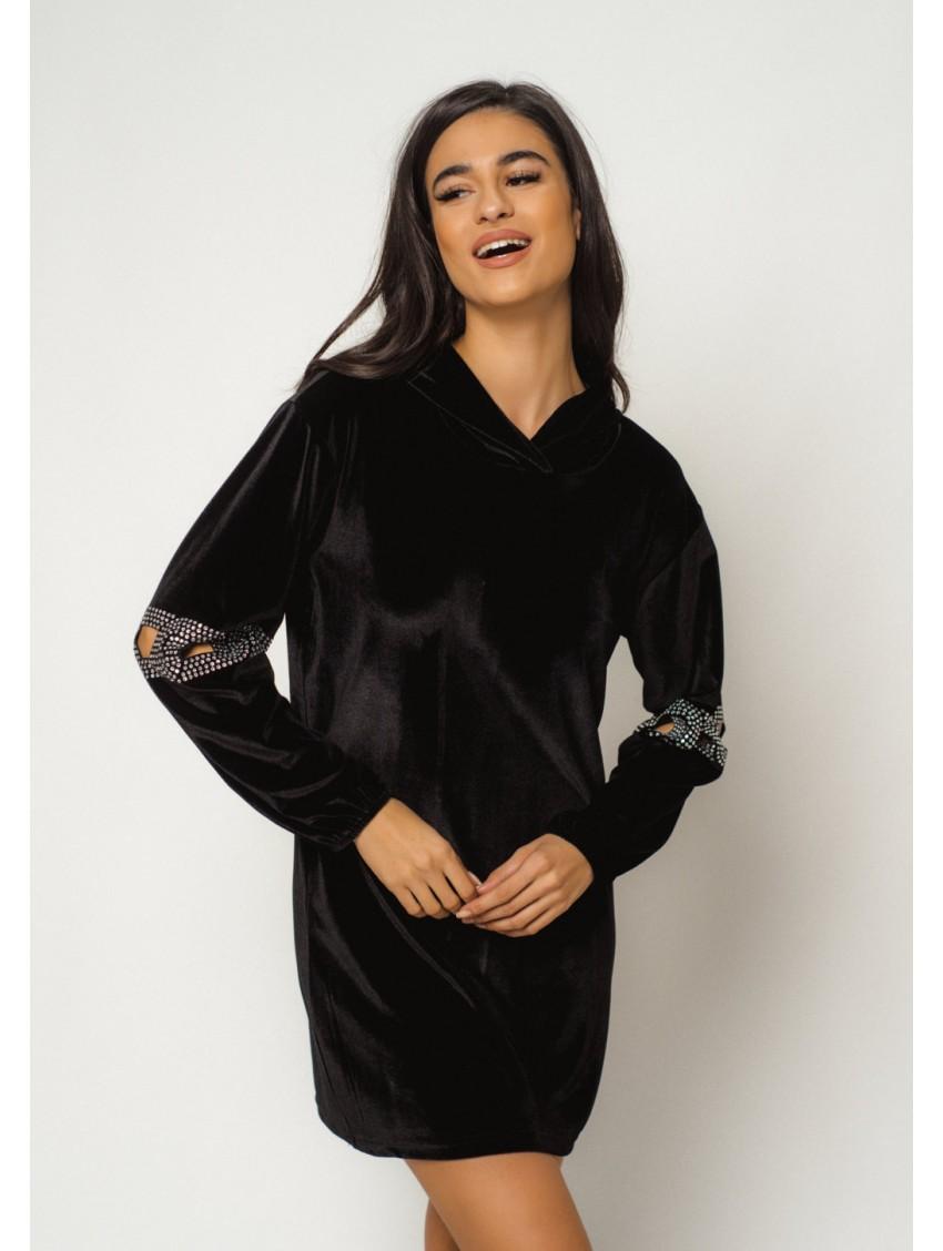 Φόρεμα C0872ΜΑΥΡΟ