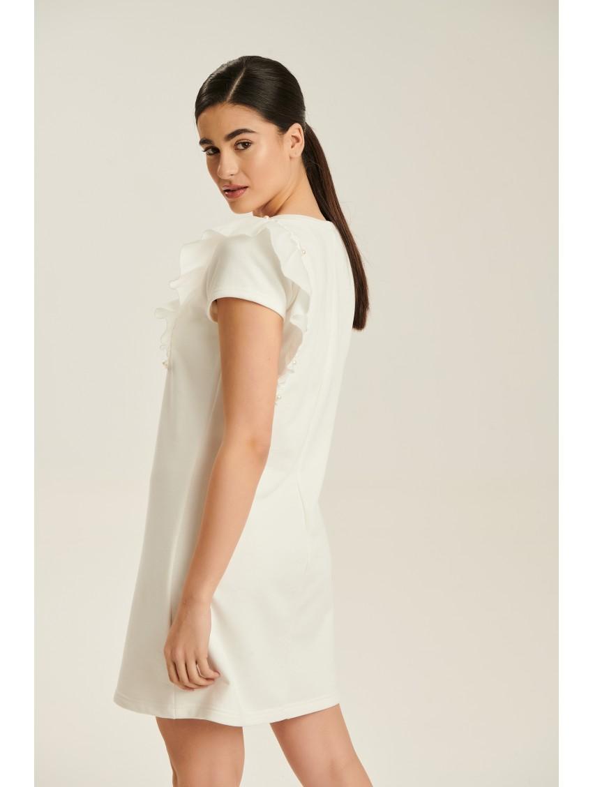 Φόρεμα C0938ΕΚΡΟΥ