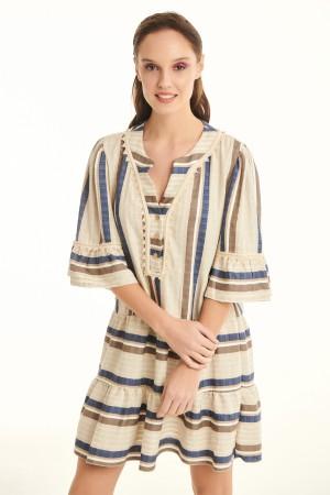 Φόρεμα D30329ΣΙΕΛ