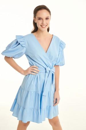 Φόρεμα D30351ΣΙΕΛ